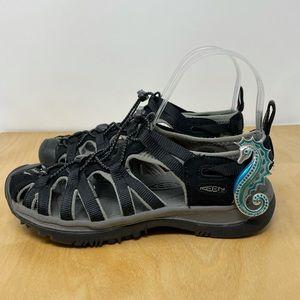 Keen Black Whisper Sandals Size 7